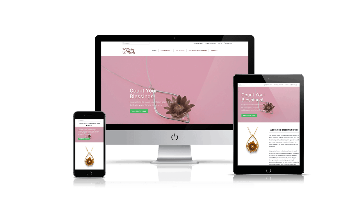 The Blessing Flower shopify store by Q-Biz | eCommerce Agency
