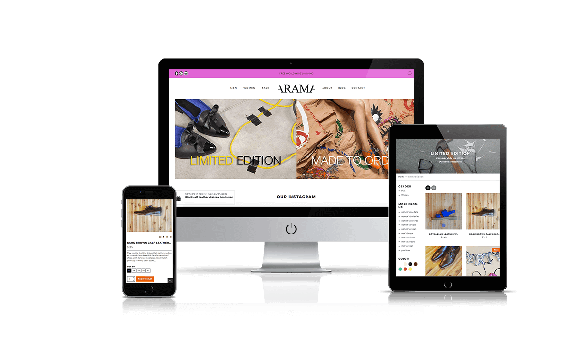 Arama shopify store by Q-Biz | eCommerce Agency
