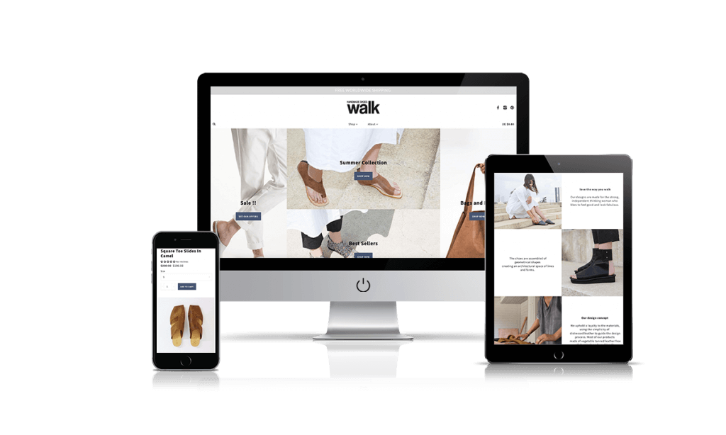 Walk shopify store by Q-Biz | eCommerce Agency