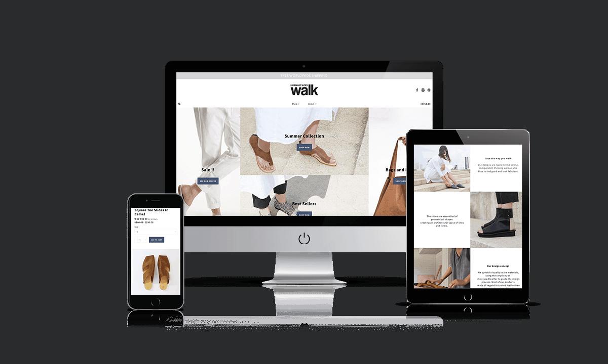 Walk shopify store by Q-Biz | eCommerce Agency