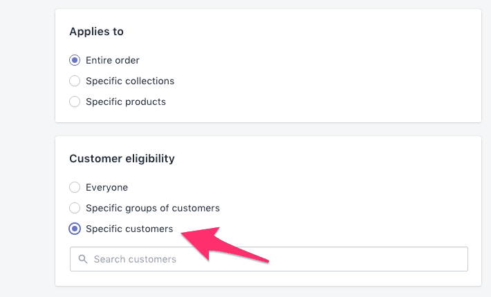 shopify-specific-customer-discount-code