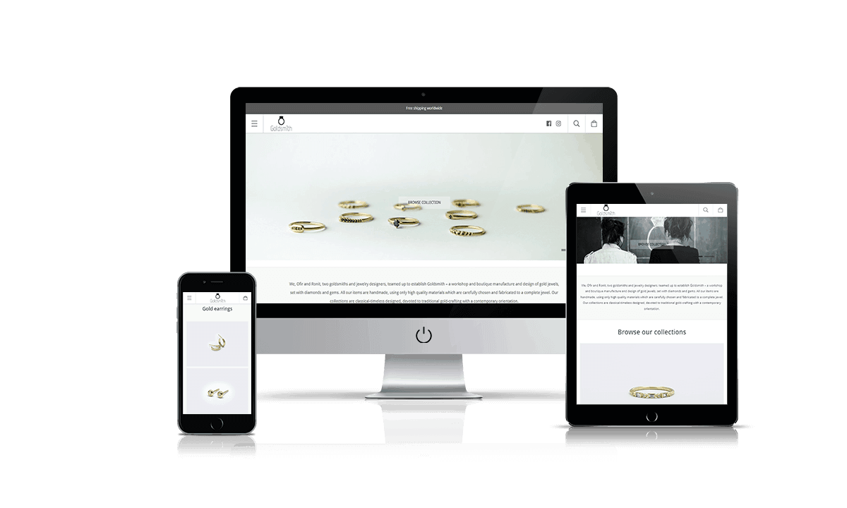 Goldsmith Studio Shopify store by Q-Biz | eCommerce Agency