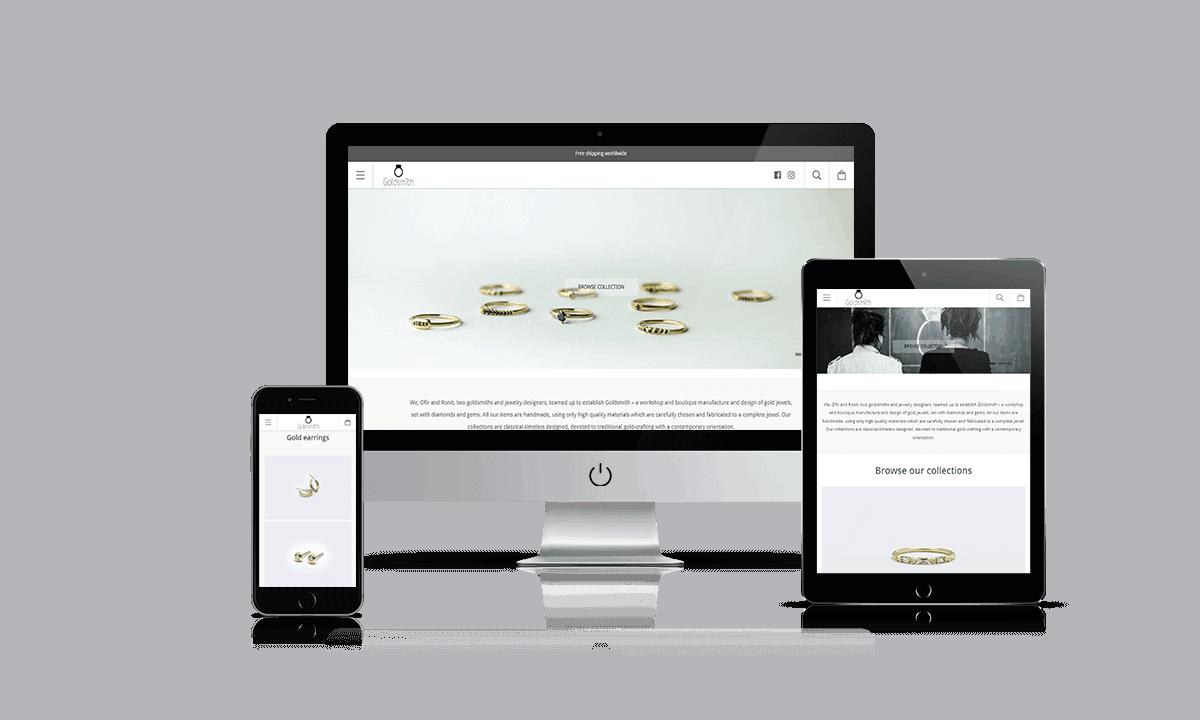 Goldsmith Studio Shopify store by Q-Biz | eCommerce Agency