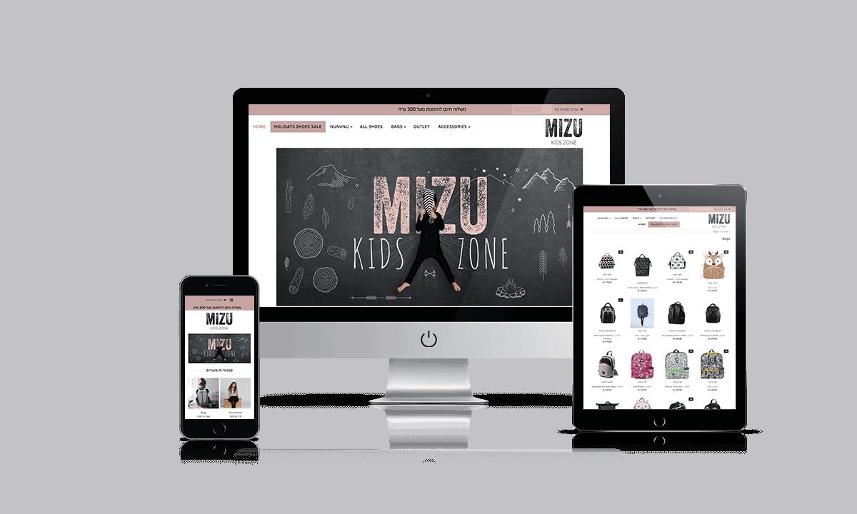 MIZU Shopify store by Q-Biz   eCommerce Agency