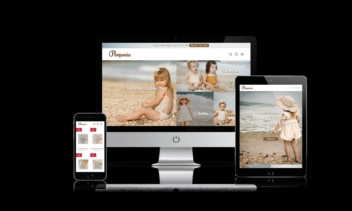 Ponponia Shopify store by Q-Biz | eCommerce Agency