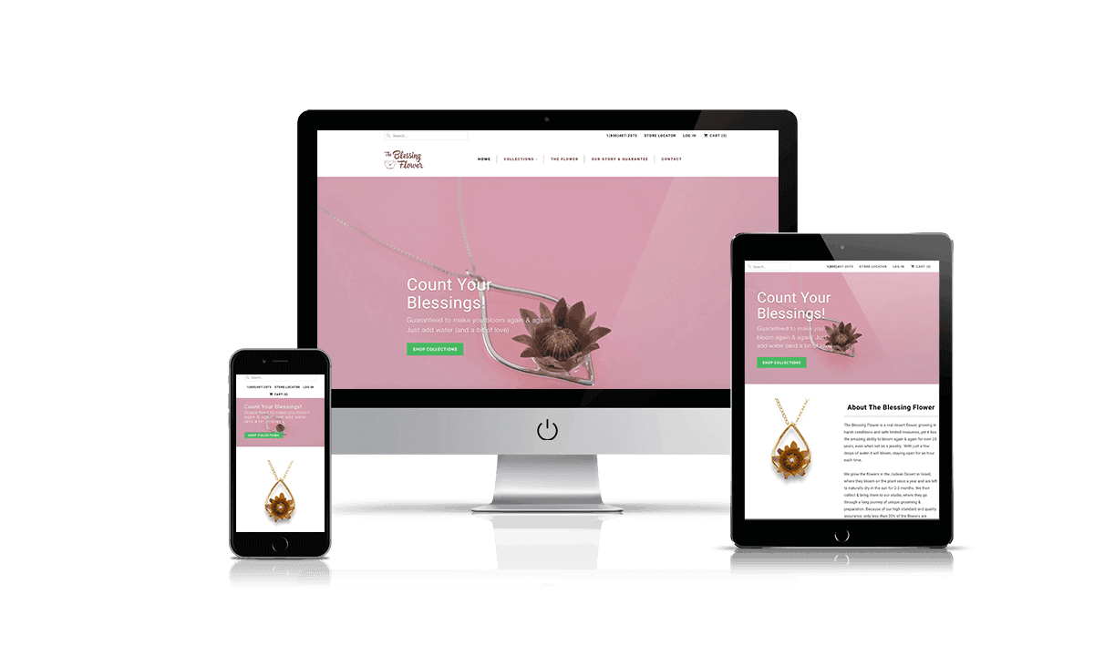 The Blessing Flower Shopify store by Q-Biz   eCommerce Agency