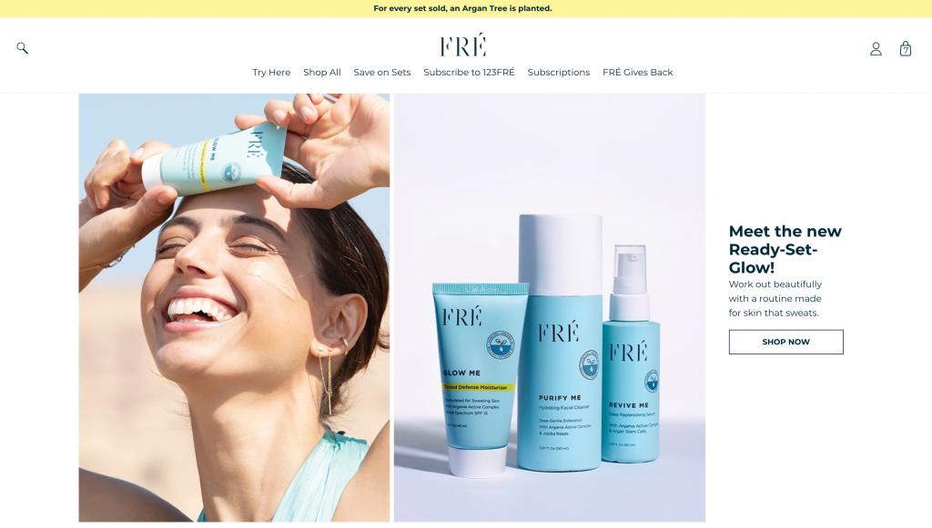 חנות Shopify Plus עבור המותג FRÉ Skincare