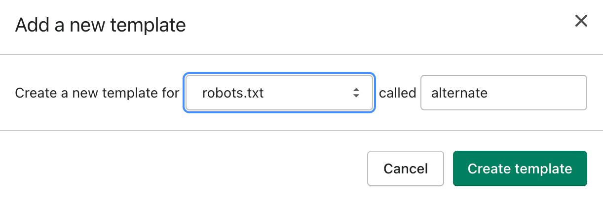 Shopify robots.txt